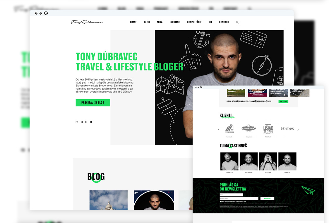 Tony Dubravec - Web development